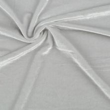 Silver Grey Stretch Spandex Velvet Fabric 145cm Wide